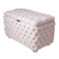 Upholstered Toy Chest In AFK Powder Pink Fabric