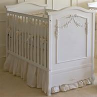 French Panel Crib Finish: Antico White