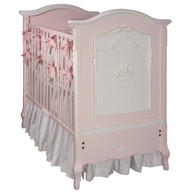 Cherubini Crib Finish: Pink / Antico White
