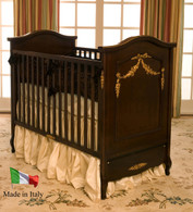 French Panel Crib Finish: Antique Cherry / Gold Gilding