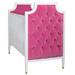 Gramercy Crib Finish: Snow Fabric: AFK Rosetta Tufting Option: Button Tufting Toe Caps: Polished Brass