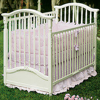 Madison Crib Finish: Antico White Appliqued Moulding Option: AFK Standard Moulding in Antico White