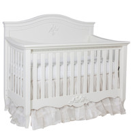 Amelie Crib Finish: Antico White Appliqued Moulding Option: AFK Standard Moulding in Antico White
