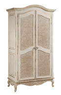 Grand Armoire Finish: Versailles Creme Door Option: Caning Knobs: Glass Knobs with Gold Base