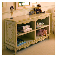 French Double Bookcase Hand Painted Motif: Milano