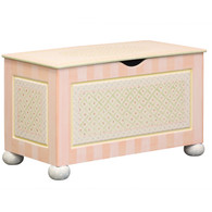 Toy Chest Finish: Antico White Hand Painted Motif: Serendipity - Pink