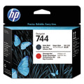 HP 744 Matte Black and Chromatic Red Designjet Ink Cartridge   - F9J88A