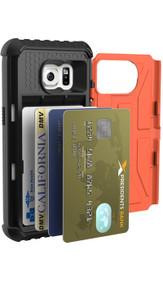 UAG Rust Trooper Card Wallet Case Samsung Galaxy S7 - Orange