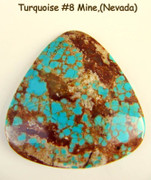 #8 Mine Turquoise(Nevada) 40x42mm 55cts 8M40