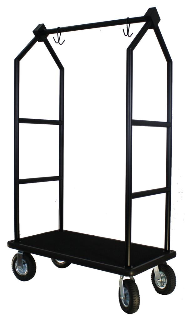 Modern Bellhop Bellman's Cart - Black Powder Coat Finish- Wholesale Hotel Products