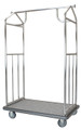 One Box Value Valet Bellman's Cart - Brushed Stainless Steel Finish