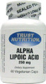 Trust Nutrition Alpha Lipoic Acid 250 mg 60 Capsules