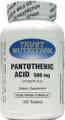 Trust Nutrition Pantothenic Acid 100 Tablets