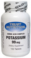 Trust Nutrition Potassium 99 mg 100 Tablets