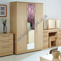 Welcome Furniture - Sherwood - 3 Door Mirror Wardrobe - Choice of Walnut, Maple, Oak or Porcelain Matt Finish