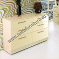 Welcome Furniture - Knightsbridge Gloss - 6 drawer chest - Choice of Vibrant Gloss & Calm Natural Colours