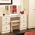 Welcome Furniture Pembroke Kneehole Dressing Table Cream