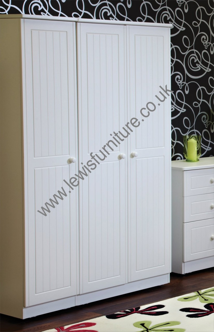 Welcome furniture warwick tall 3 door robe choice of for Furniture zone warwick