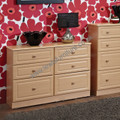 Welcome Furniture - Pembroke - 6 Drawer Midi Chest - Choice of 5 finishes