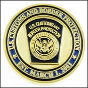 U.S. Border Patrol New Badge and Patch Challenge Coin - Back