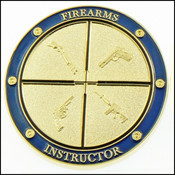 Federal Law Enforcement Training Center Firearms Division Challenge Coin - Front