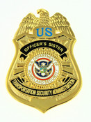 Transportation and Security Administration Officer's Sister Mini Badge Pin