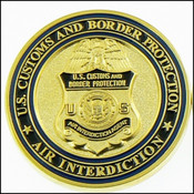Office of Air and Marine, Air Interdiction Badge and Patch Challenge Coin - Front