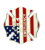 911 Fire Emergency Maltese Cross Lapel Pin
