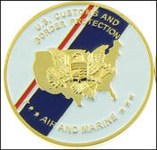 CBP Office of Air and Marine Flag Challenge Coin - Front