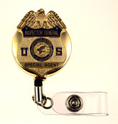 Health and Human Services Inspector General Special Agent Retractable ID Holder with a gold tone ID Reel