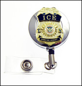 ICE Special Agent Mini Badge ID Holder in Chrome