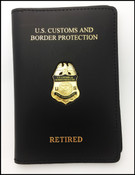 "Office of Air and Marine ""Retired"" Marine Interdiction Agent Credential Case with Mini Badge"