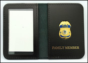 Federal Emergency Management Administration Mini Badge ID Holder Case w/Family Member Embossing