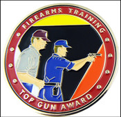 Federal Law Enforcement Training Center Top Gun Shooters Award Challenge Coin - Front