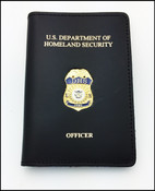 Federal Emergency Management Agency Officer ID Credential Case with DHS and Officer Embossing