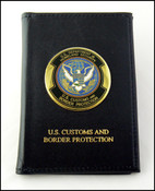 Embossed Customs and Border Protection Badge and Credential Case with an OFO Medallion
