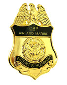 Office of Air and Marine Agents Husband Mini Badge Lapel Pin