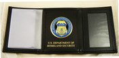 Immigration and Customs Enforcement Tri-Fold Wallet, DHS Embossing and ICE Medallion