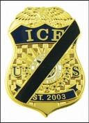 Immigration and Customs Enforcement Mini Mourning Badge Lapel Pin