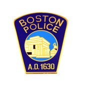 Boston Police Department Mini Patch Refrigerator Magnet