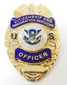 Citizenship and Immigration Services Officer Badge Refrigerator Magnet