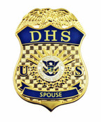 Department of Homeland Security Spouse Mini Badge Lapel Pin