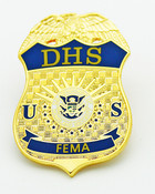 Federal Emergency Management Agency Mini Badge Refrigerator Magnet