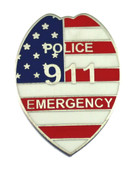 911 Police Lapel Pin 911 Police Emergency Mini Badge refrigerator magnet