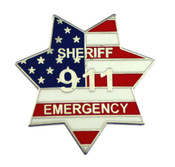 911 Sheriff Emergency Mini Badge refrigerator magnet