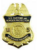 Office of Air and Marine Air Interdiction Agent Mini Badge Refrigerator Magnet