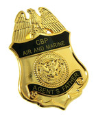 Office of Air and Marine Agent's Father Mini Badge Refrigerator Magnet