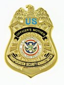 Transportation and Security Administration Officer's Mother Mini Badge Refrigerator Magnet