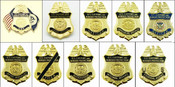 "Customs and Border Protection 1.25"" Mini Badge Lapel Pins"