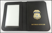 Department of Homeland Security Officer Mini Badge ID Holder Case w/Retired Officer Embossing